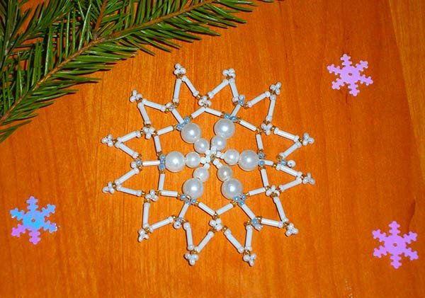holidays garlands snowflake beads make