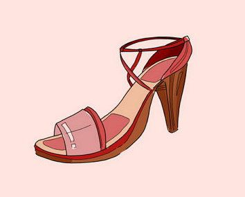 shoes art draw highheel sneakers