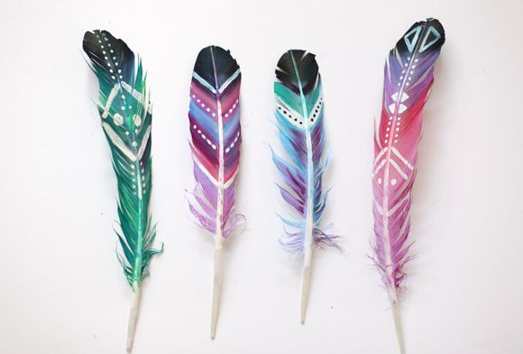 decor festival feathers boho diy home painting artwork