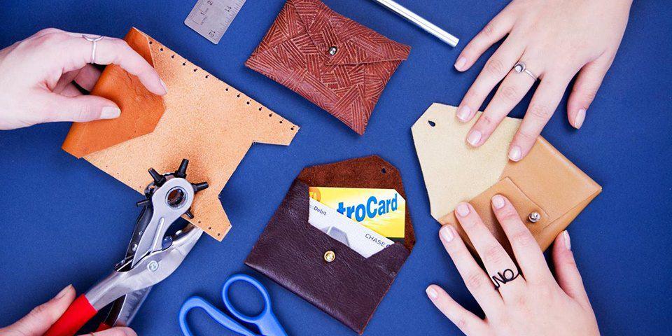 wallet custom leather