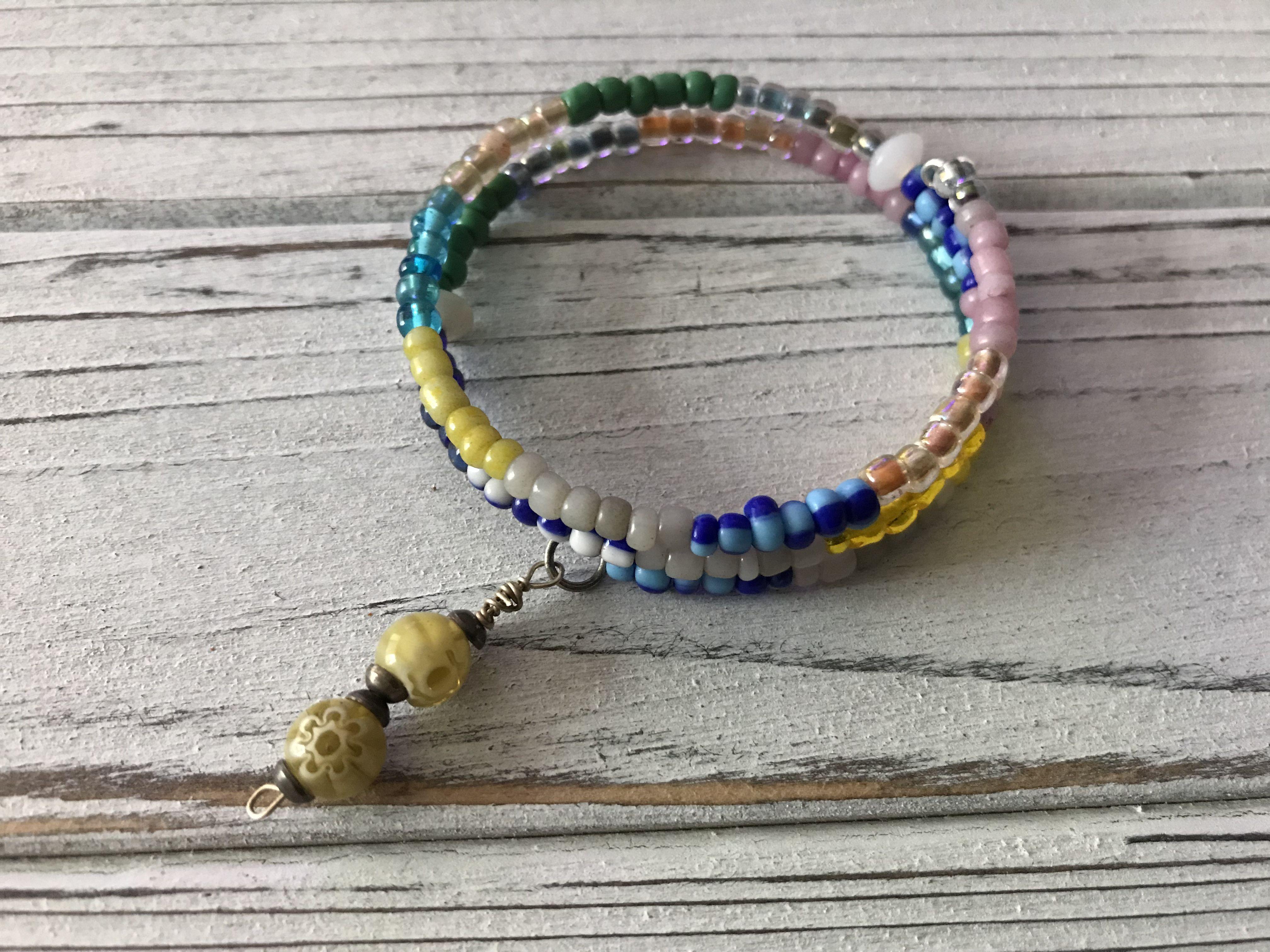 unique wrapbracelet naturalstones allcolors wirewrap handmade stylish glassbeads giftsforall