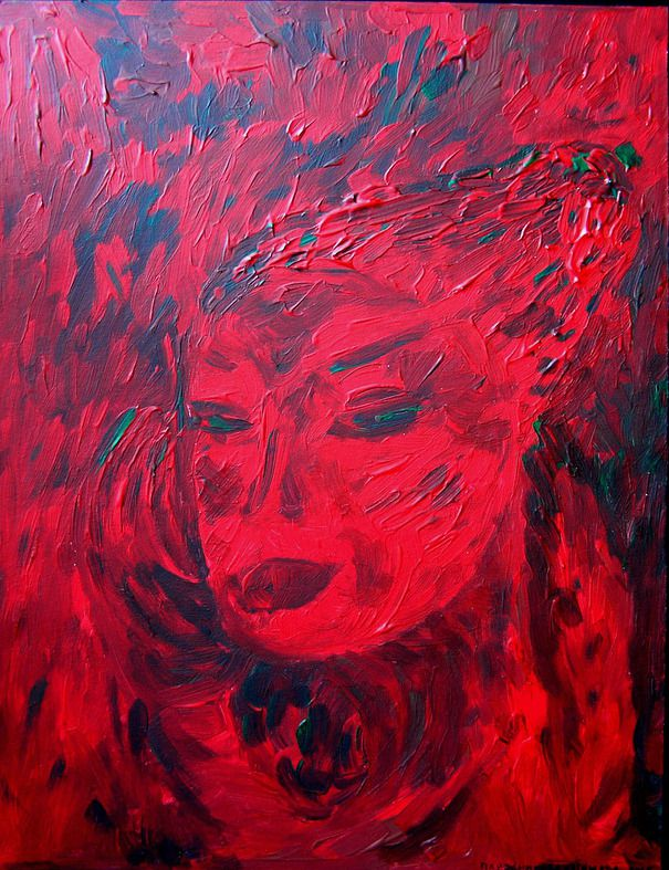 gift interior red painting art