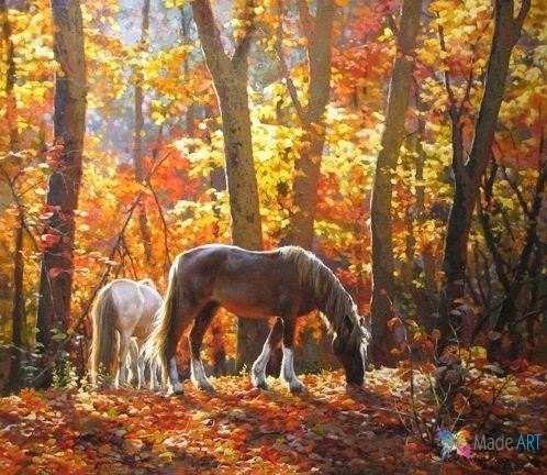 interior horse picture painting art
