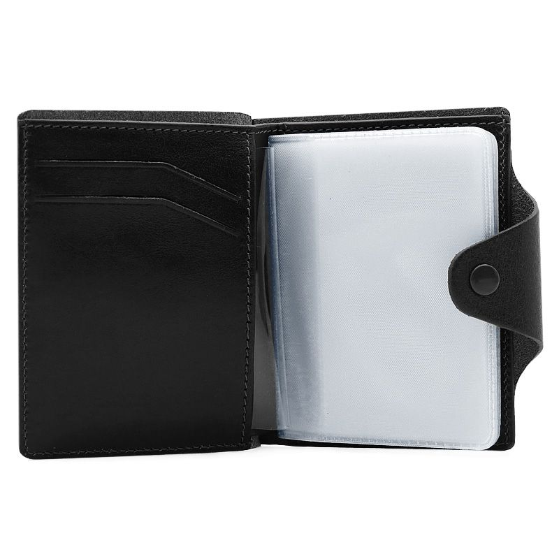accessories leather black handmade cardholder