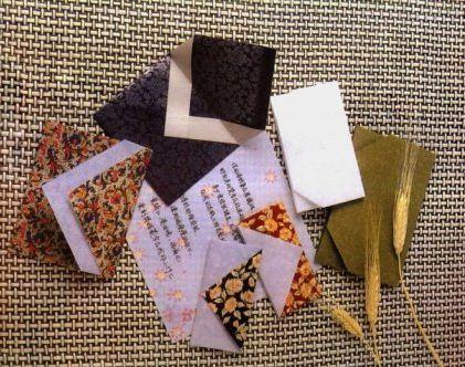 origami fold postcard paper envelope