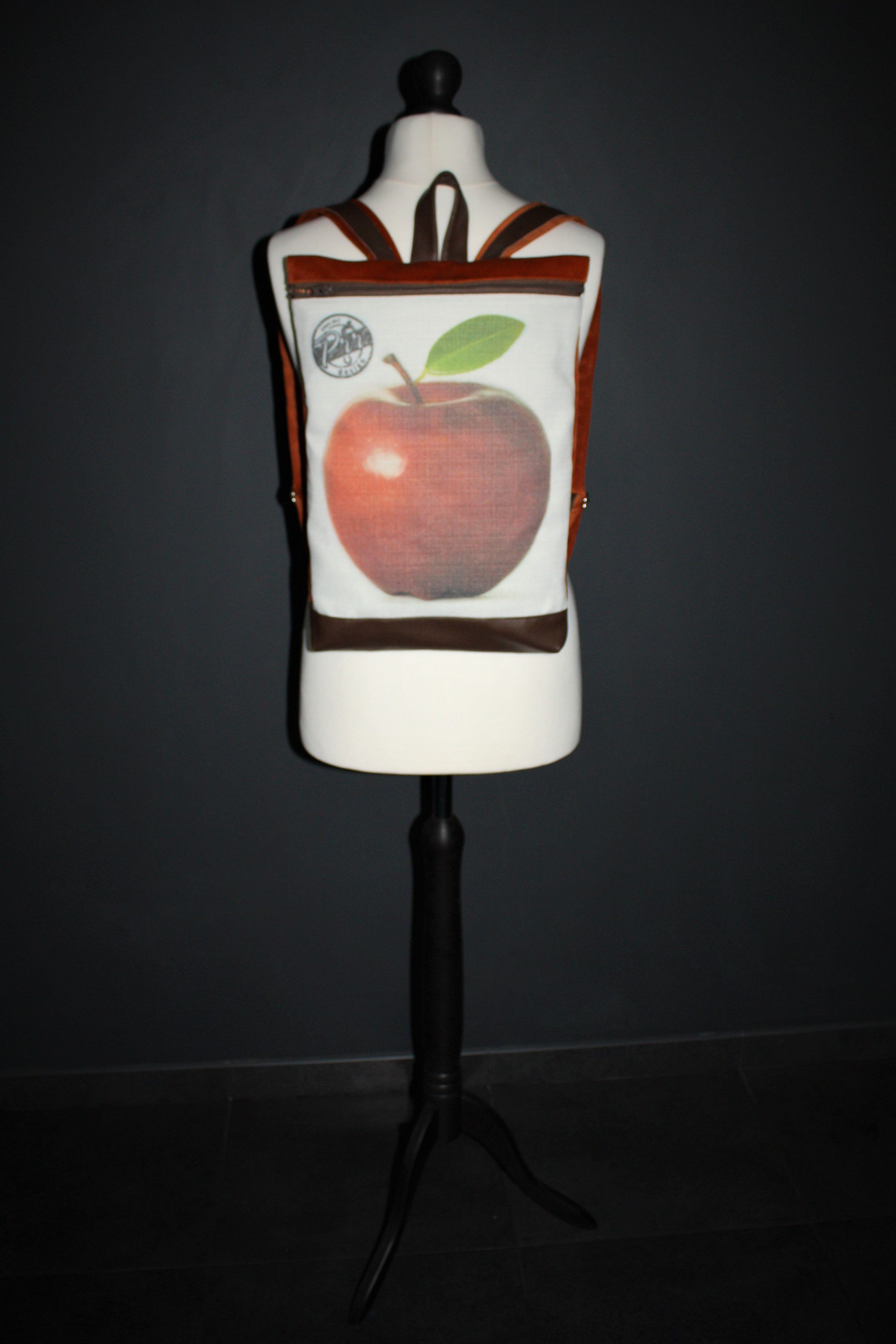 handmade bag canvas girls backpack bags simple apple satchel bagforgirl