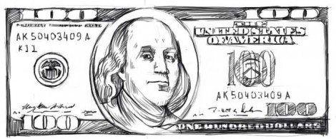 dollar money art draw pencil hundred