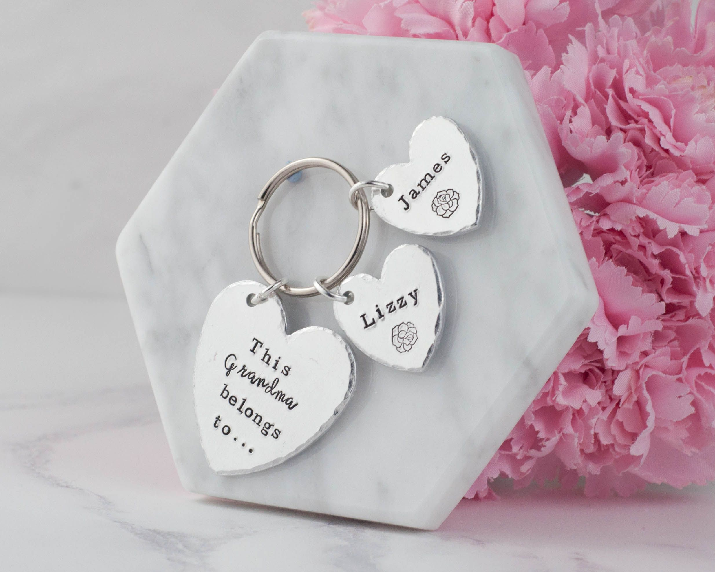 grandmother day gift keychain handstamped nanny nana belongs grandma gifts keyring this mothers for