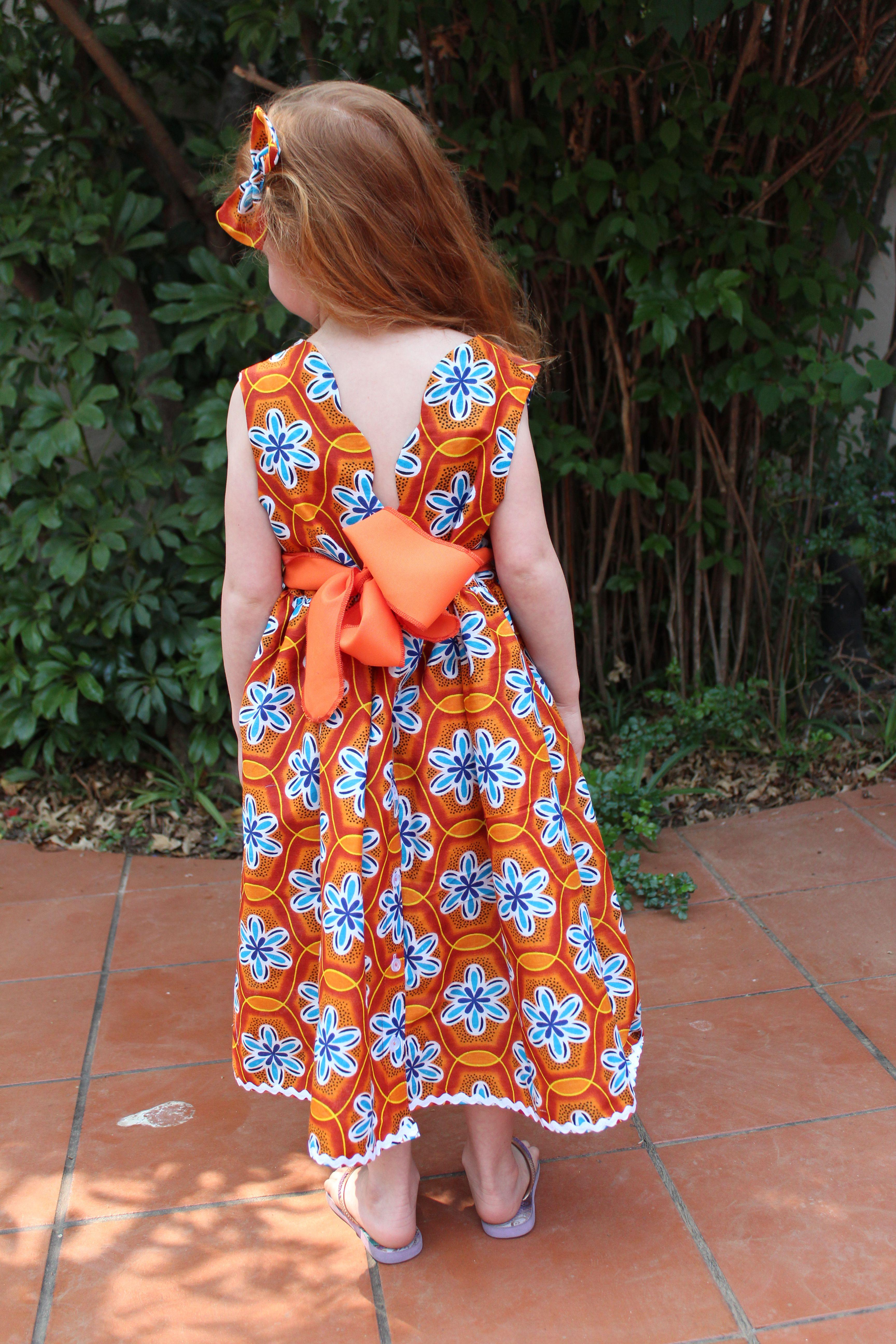 empire line skirt crochet wide girls floral dress handmade summer clothing cotton