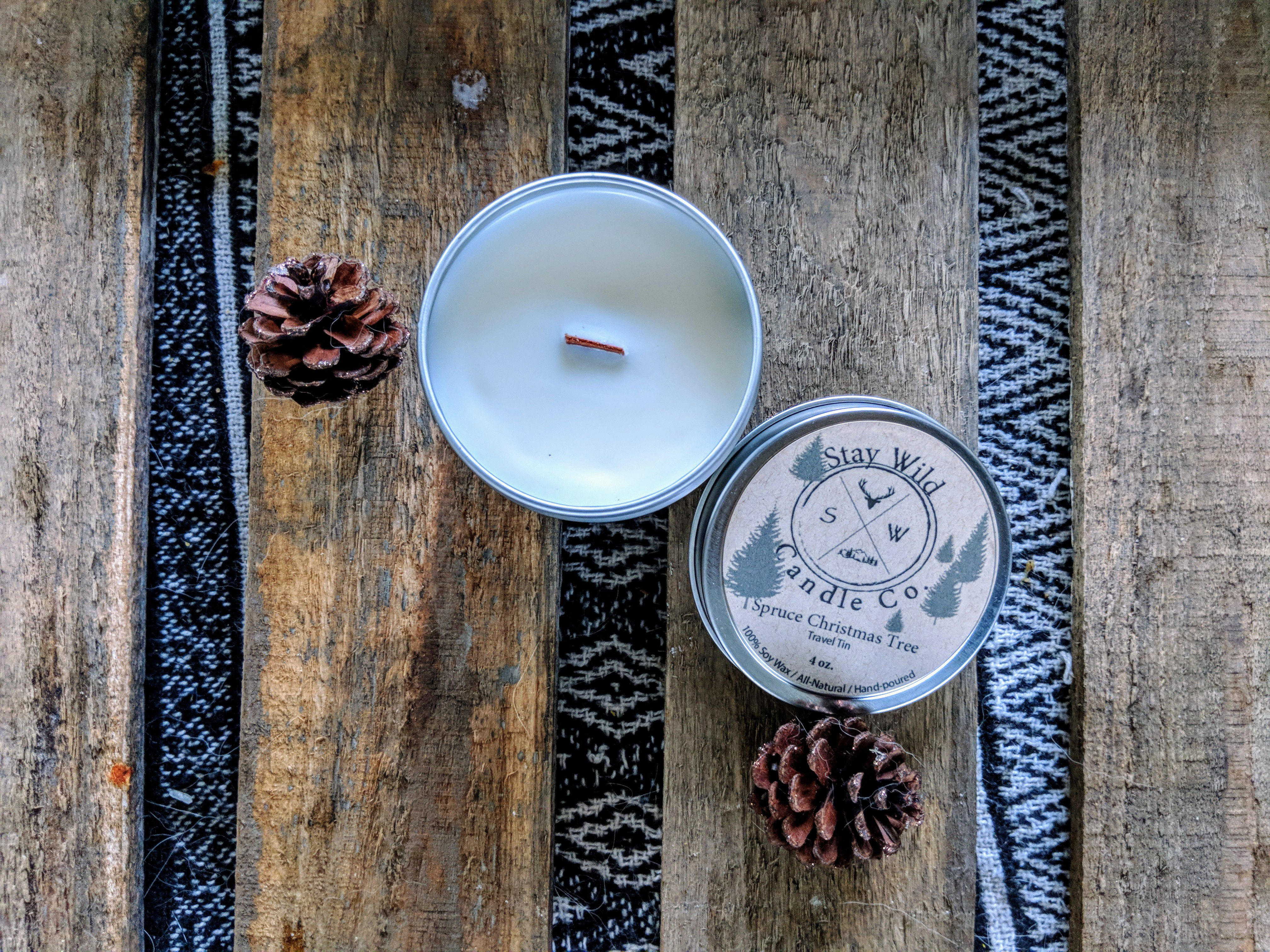 holiday gift candle outdoor soy christmas travel