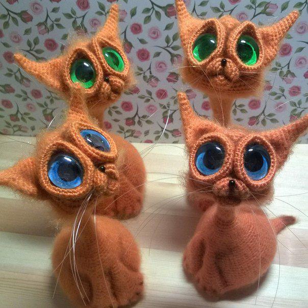 toy glass knitting kids cat