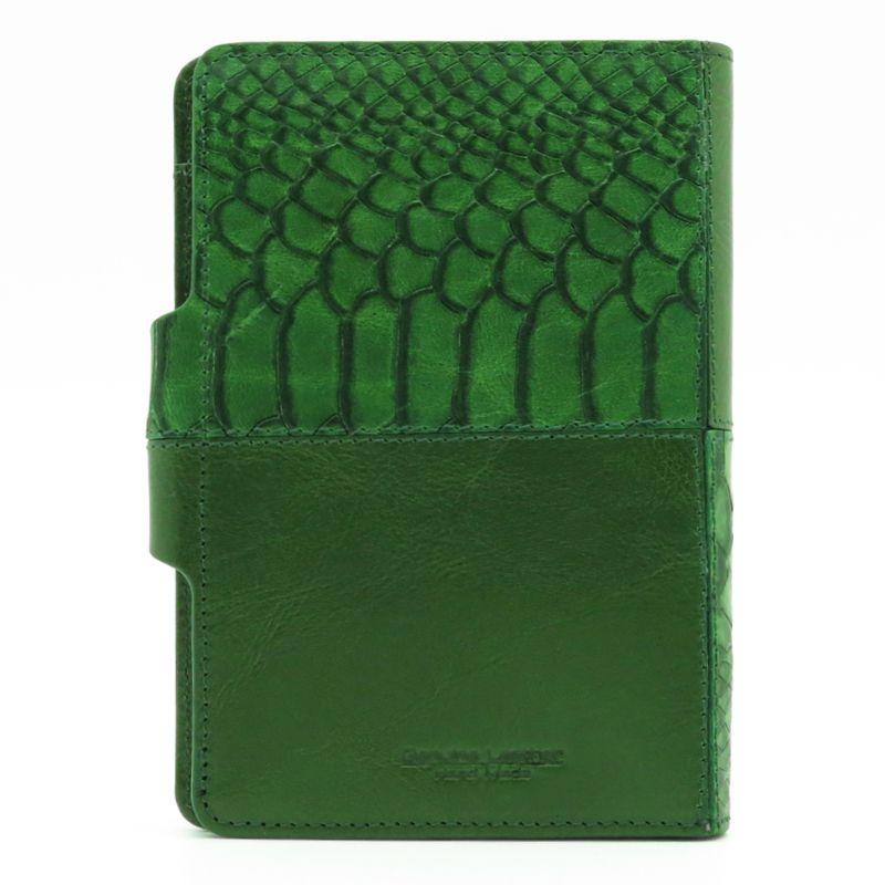 handmade leather accessories cover green