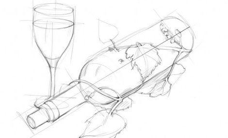 draw pencil bottle gradually art