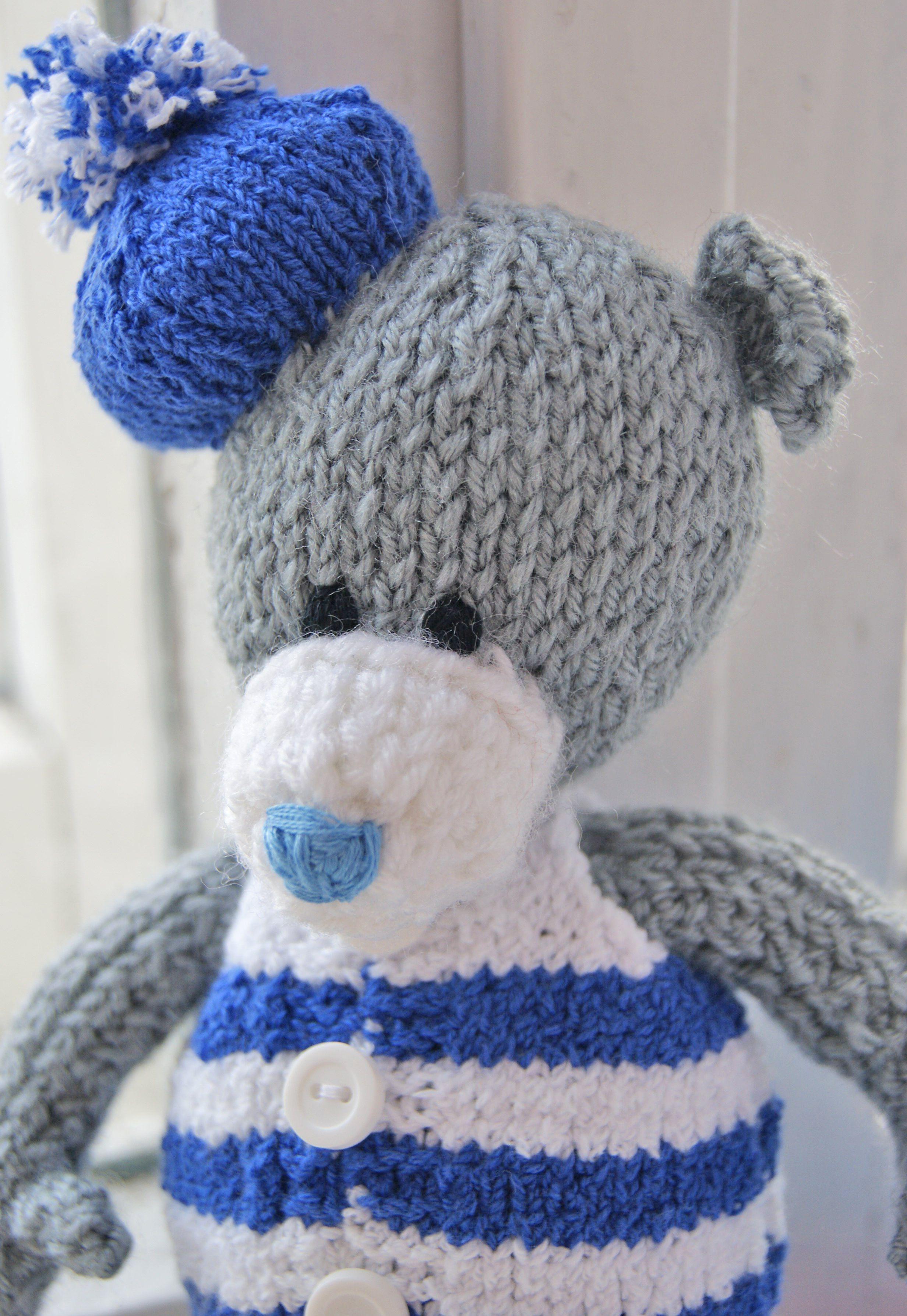 toy gift warm sailor sea children teddy interiortoy bear knit