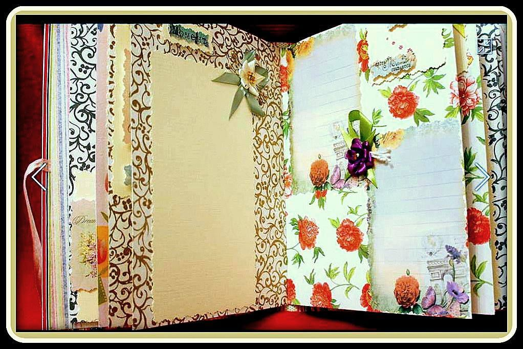 gift flowers paper strips album