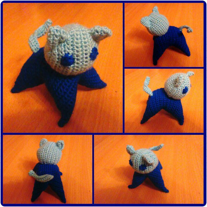baby knit toys kitten crocheted