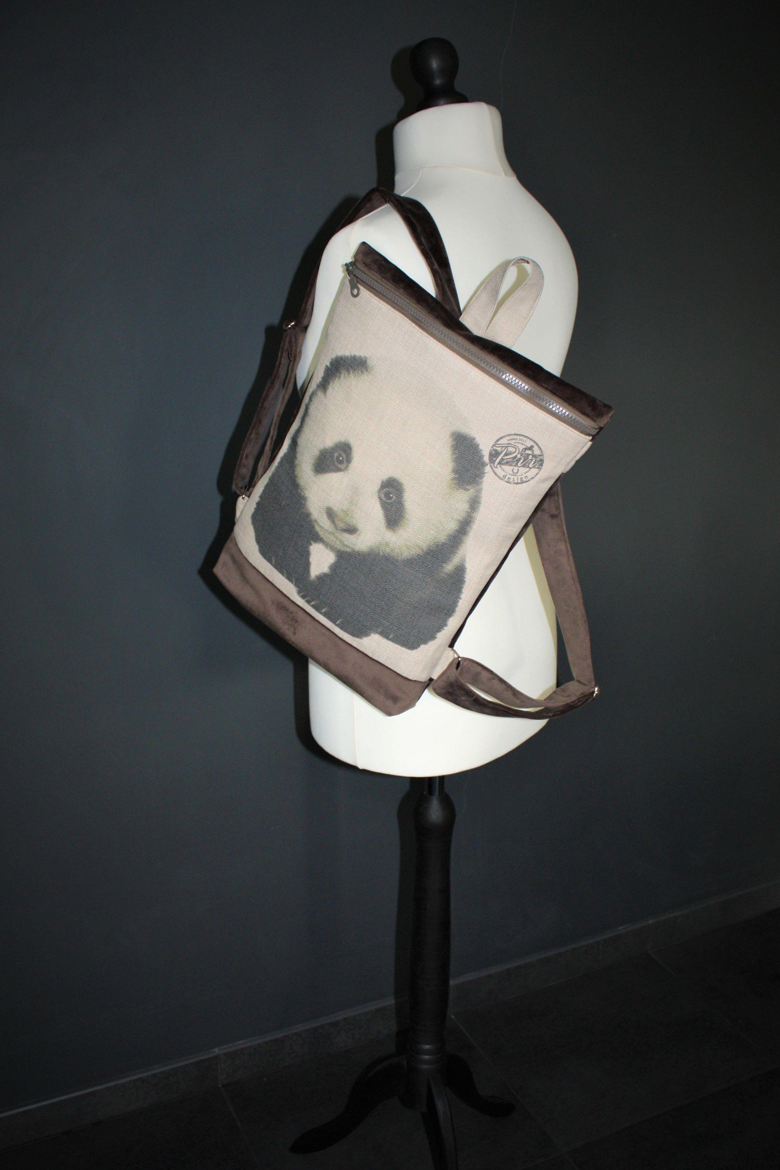 gift cute panda women girls backpack bear vegan rucksack backpacks minimalist cutest