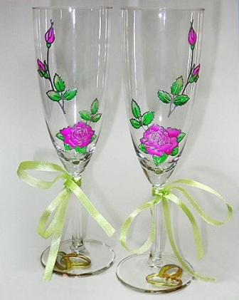 wedding decorating holidays wine glasses