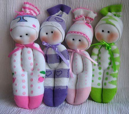 handmade doll art fun beautiful creativity socks inspiration play idea diy handmadedoll creativemom forchildren creativeidea colours