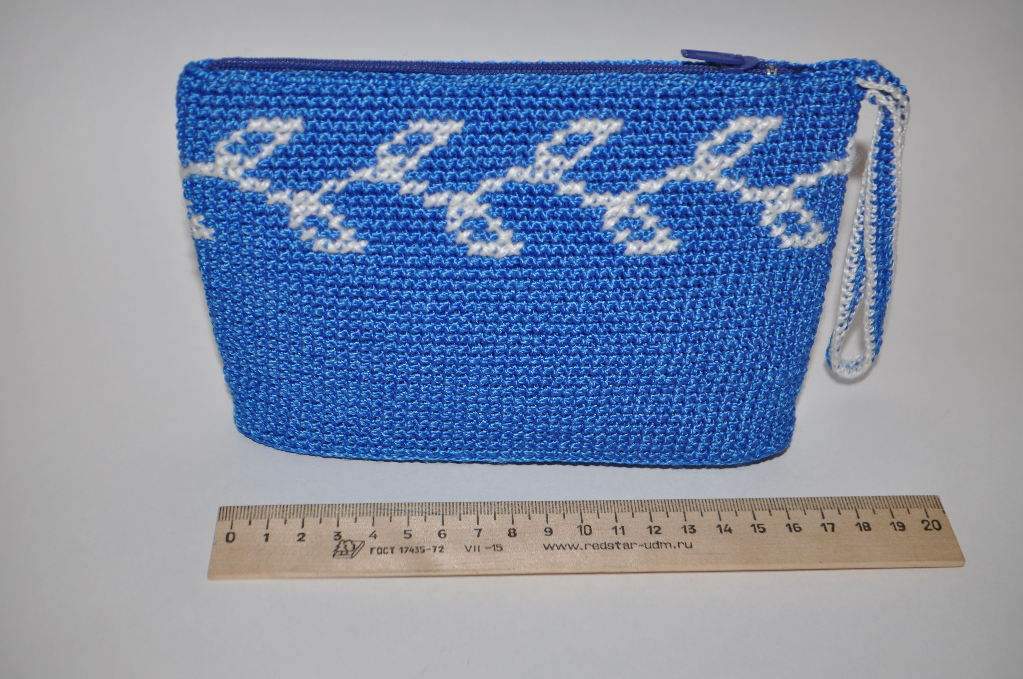 bag souvenir holiday white crossstitch cosmeticsbag clutch gift newtear zip knit cosmetics christmas handmade blue crocheted embroidery