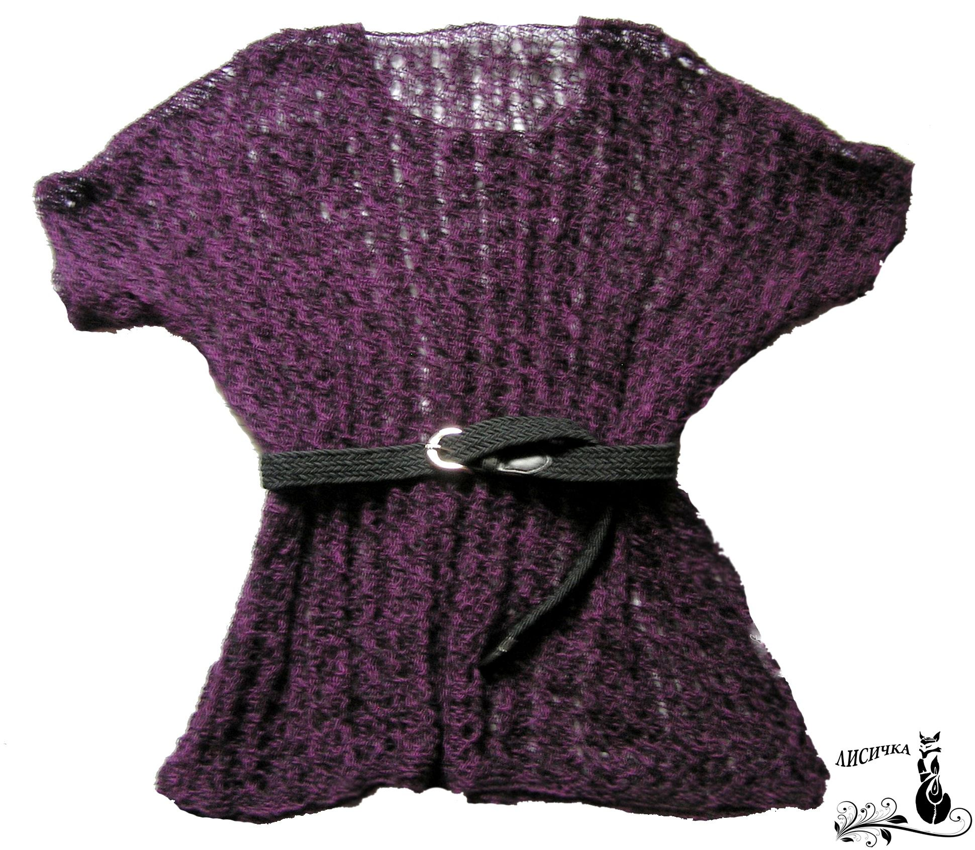 mantel violet clothes knitting winter