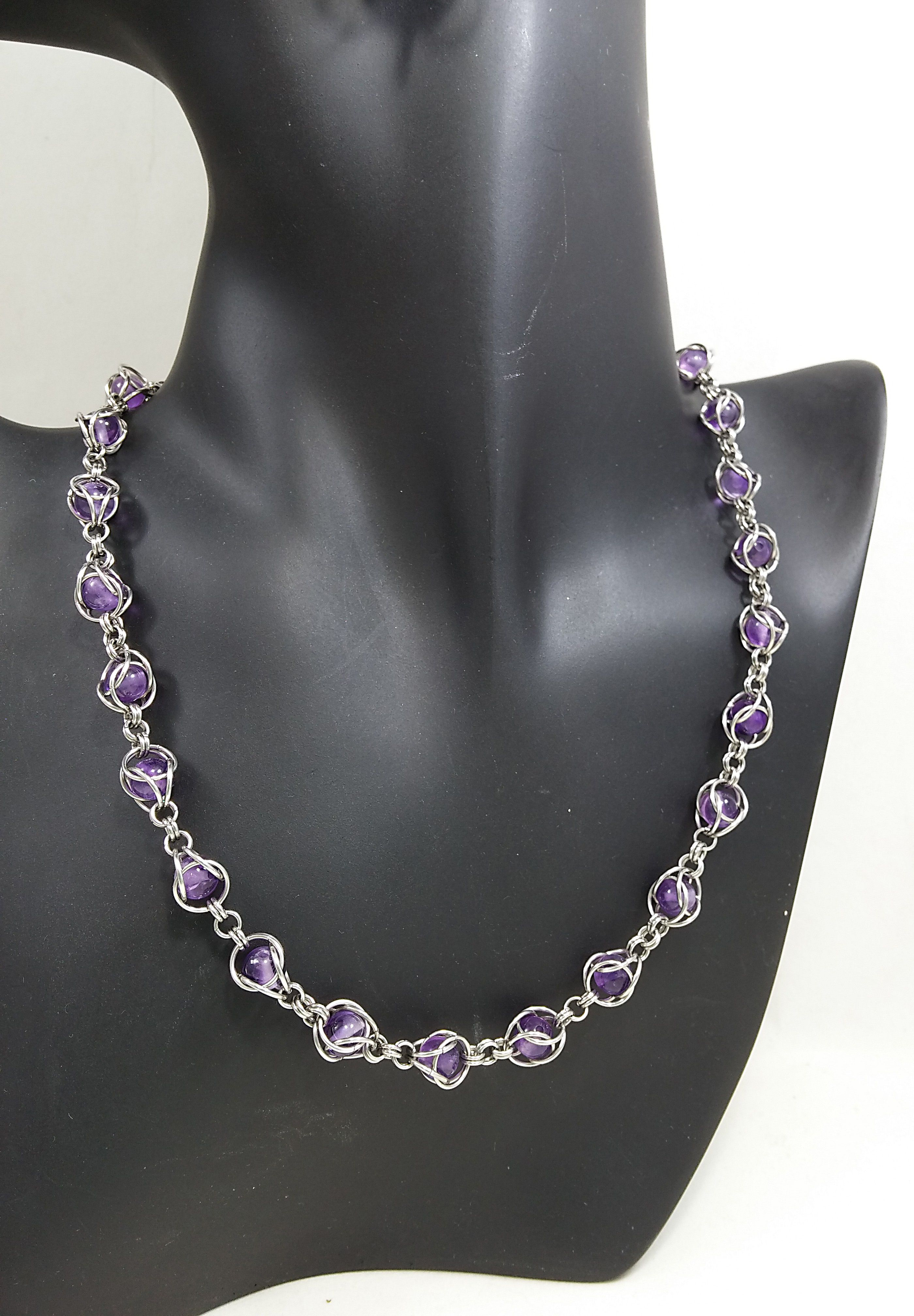 jewelry amethyst handmade necklace artisan purple art