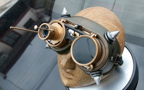 steampunk make goggles art modern