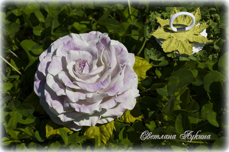 hair accessories flowers white tie rose