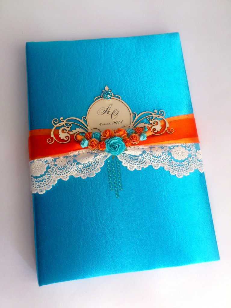 wishes blue handmade book wedding