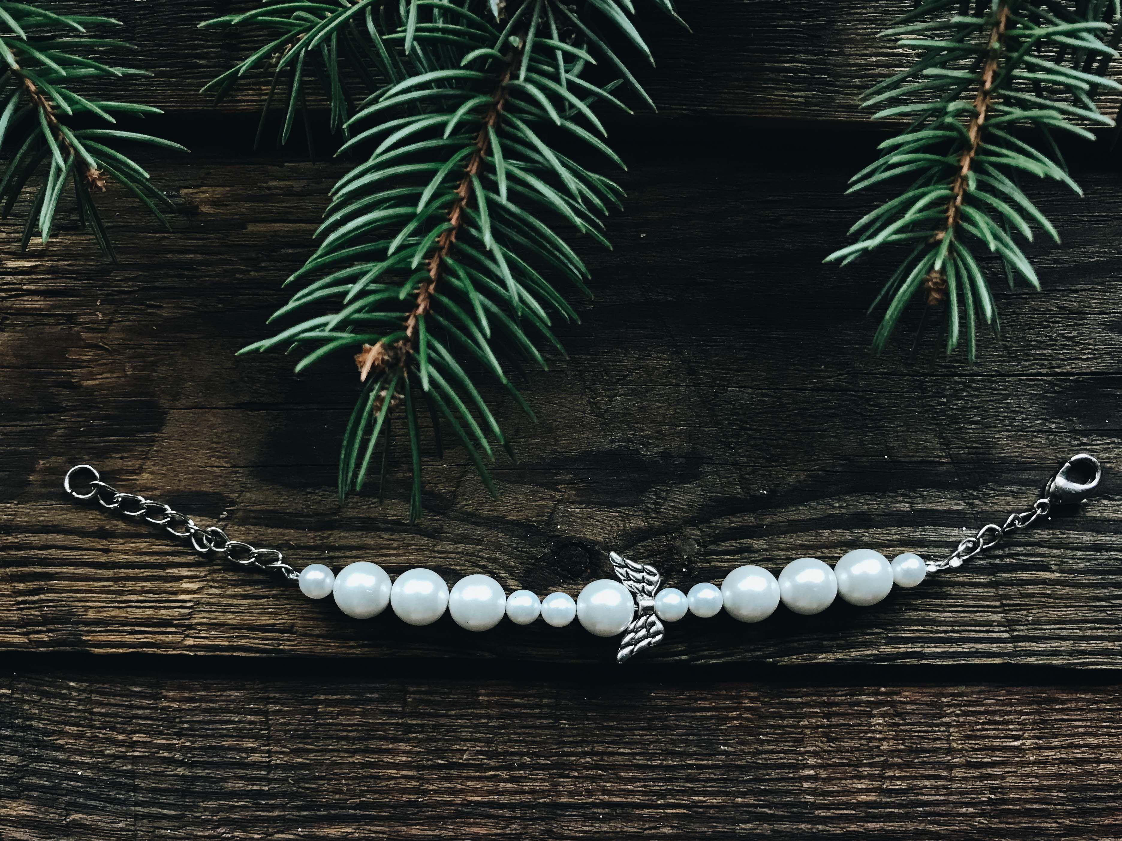 gift angel jewelry handmade gemstone bracelet beads