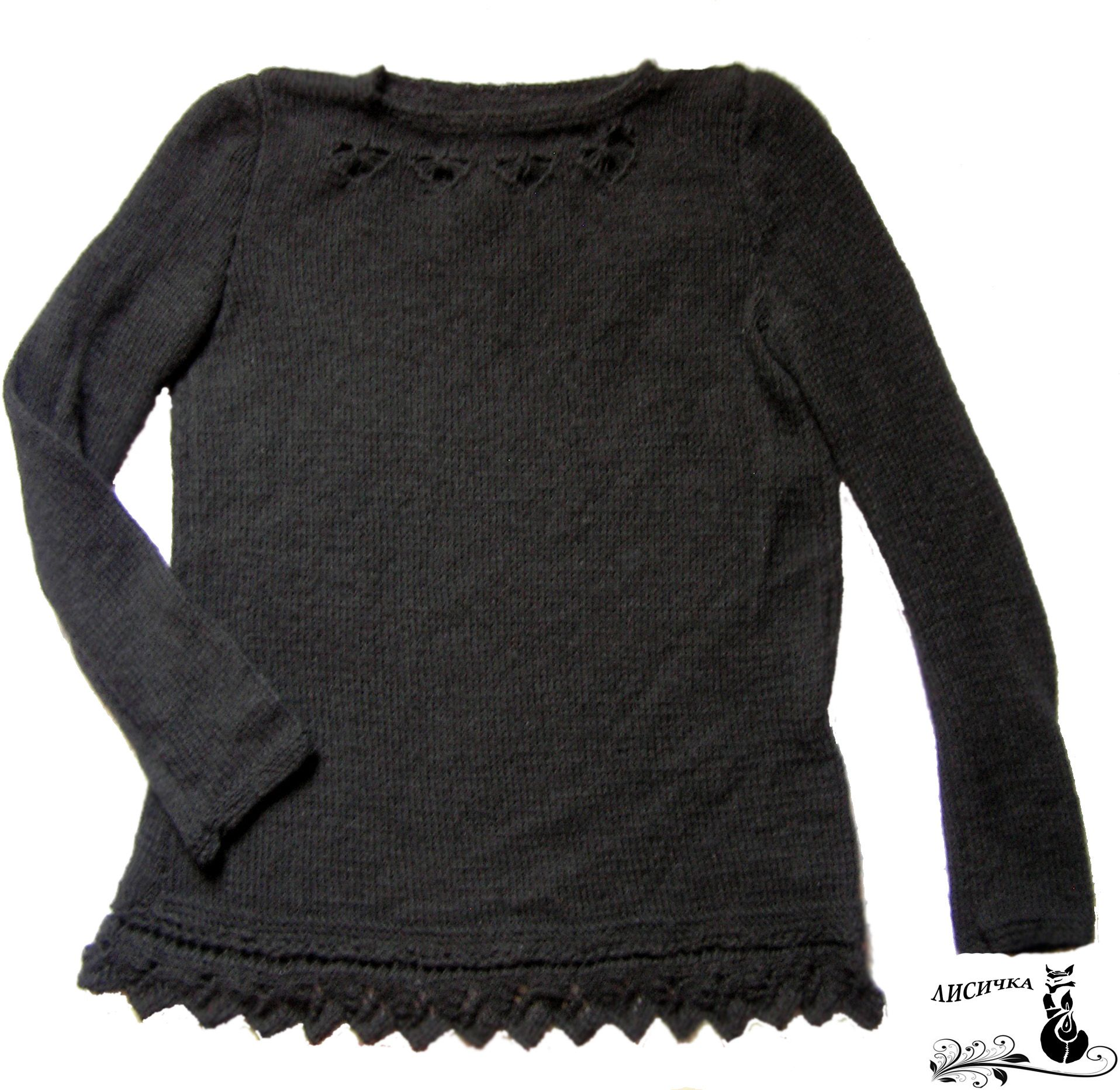 clothes women blouse knitting black