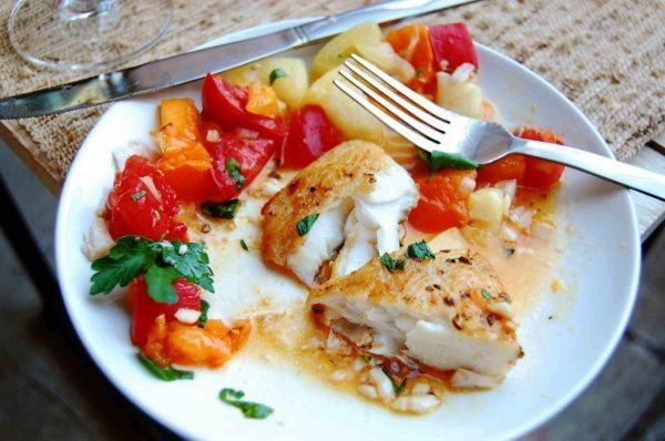 ingredients halibut cookery cook recipe