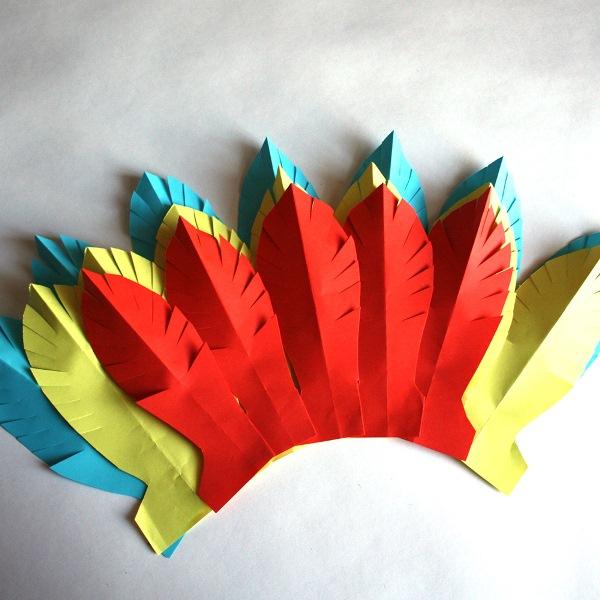 headdress crafts indian paper make