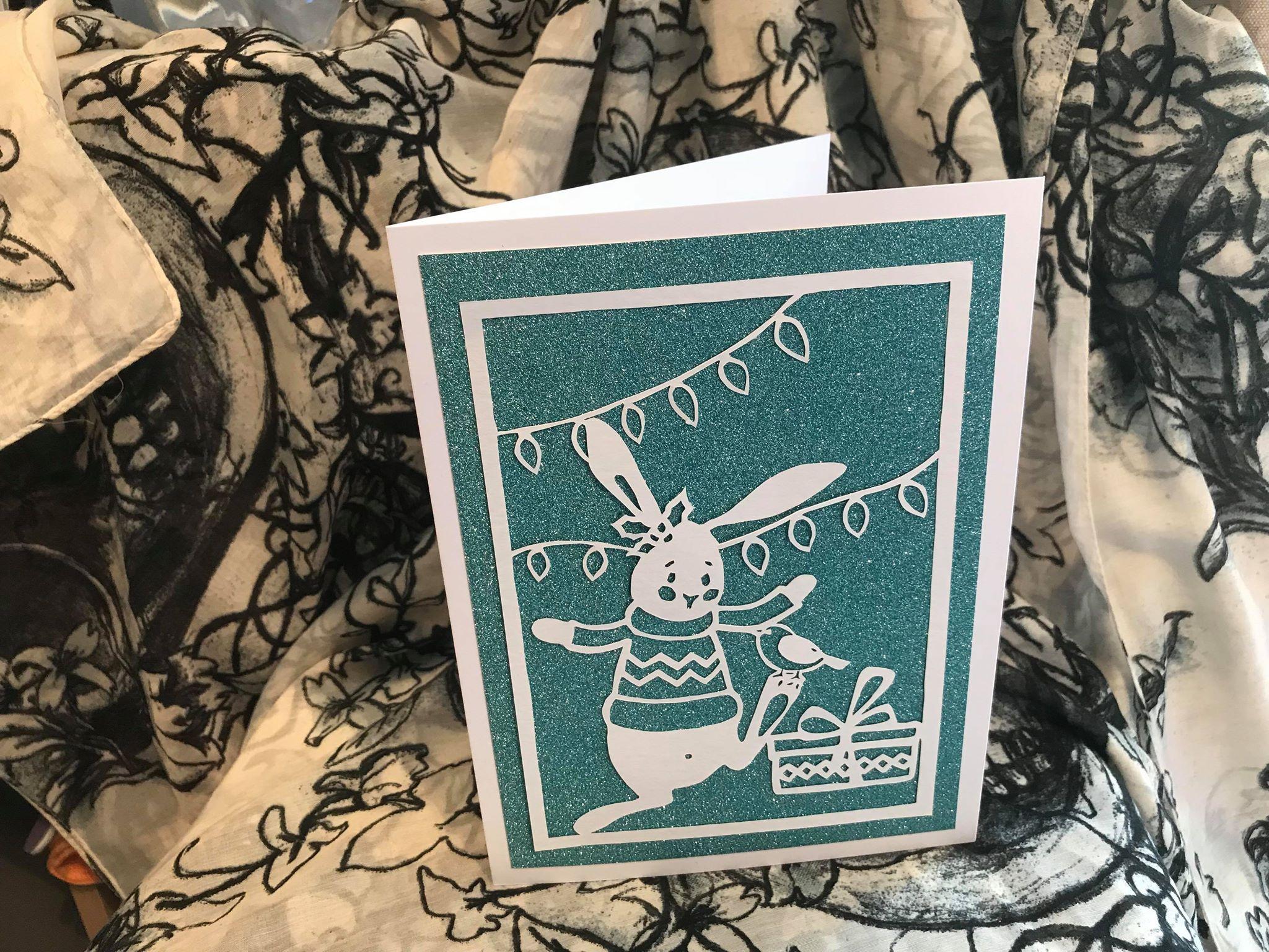 robin rabbit card quirkycraftsuk polar mistletoe greetings and gift xmas present bird qcuk christmas merry bear santa making