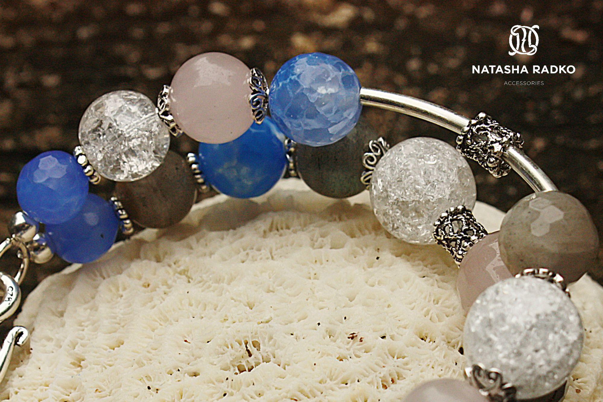 agate quartz jewelry labradorite wristlet