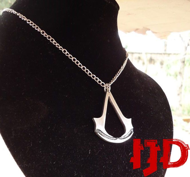 creed assassin pendant men women necklace silver for