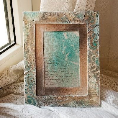 textured instruction vintage picture frame