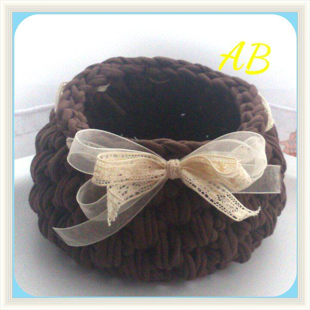 handmade handmadegift basket originalgift knittedbasket knit