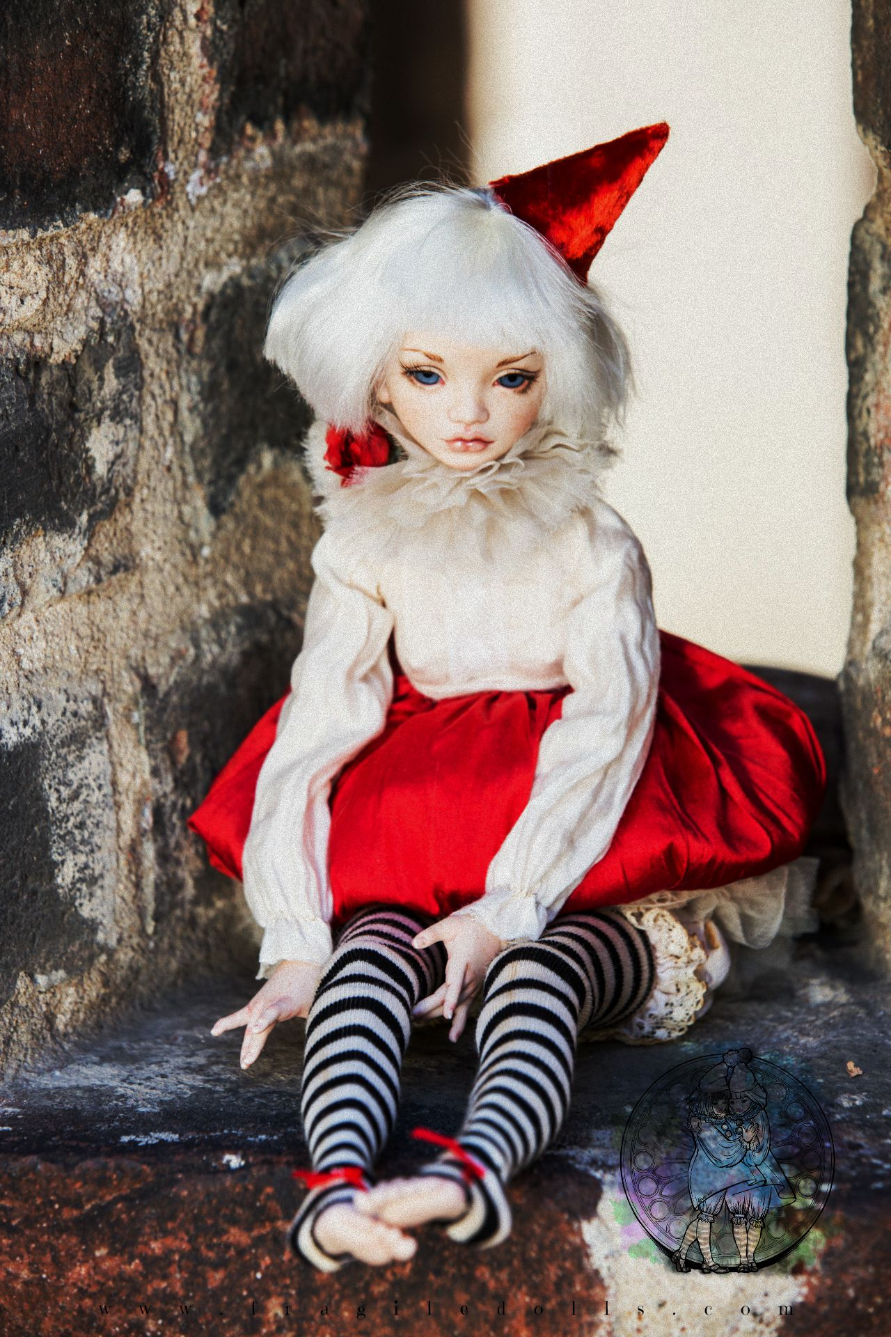 doll joodella bjd porcelain fragiledolls red art