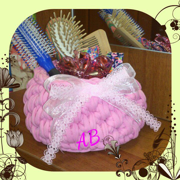 original gift interior knit handmade basket