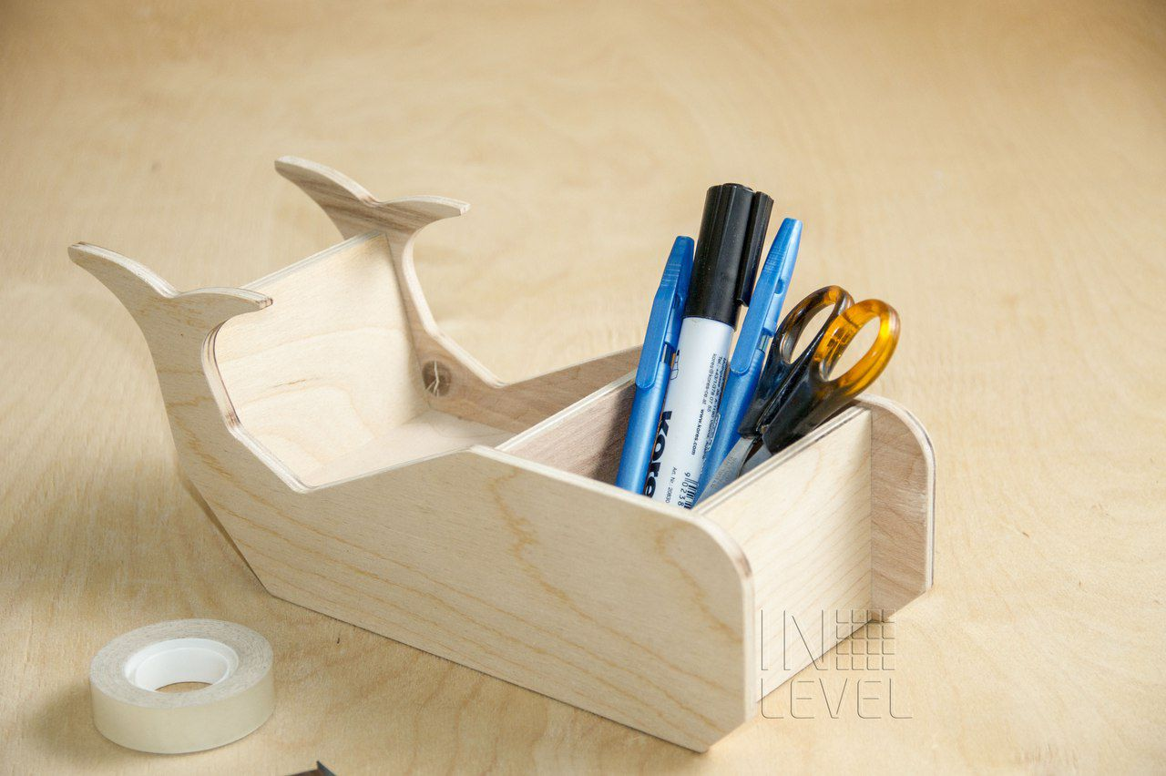 wood wooden decoration officesupplies while office holder organizer