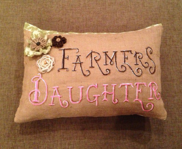 handpainted throw pillows custom country decrotive art