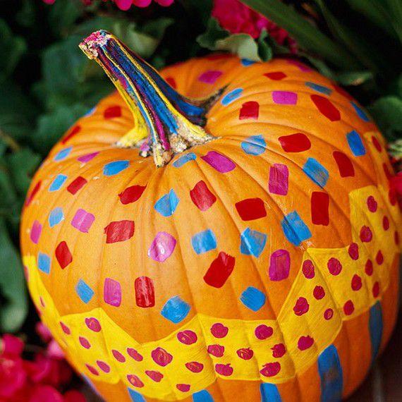 decorate holidays halloween pumpkin painting