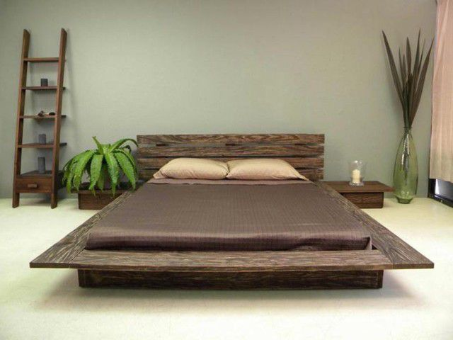 wooden handicrafts platform bed make