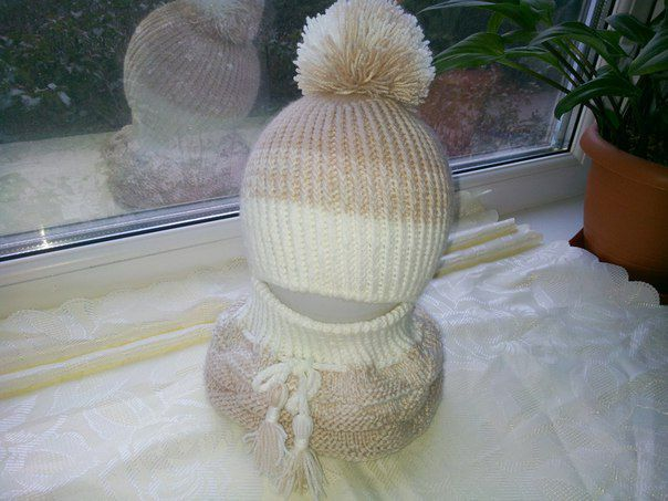 scarf white clothes cap kids winter