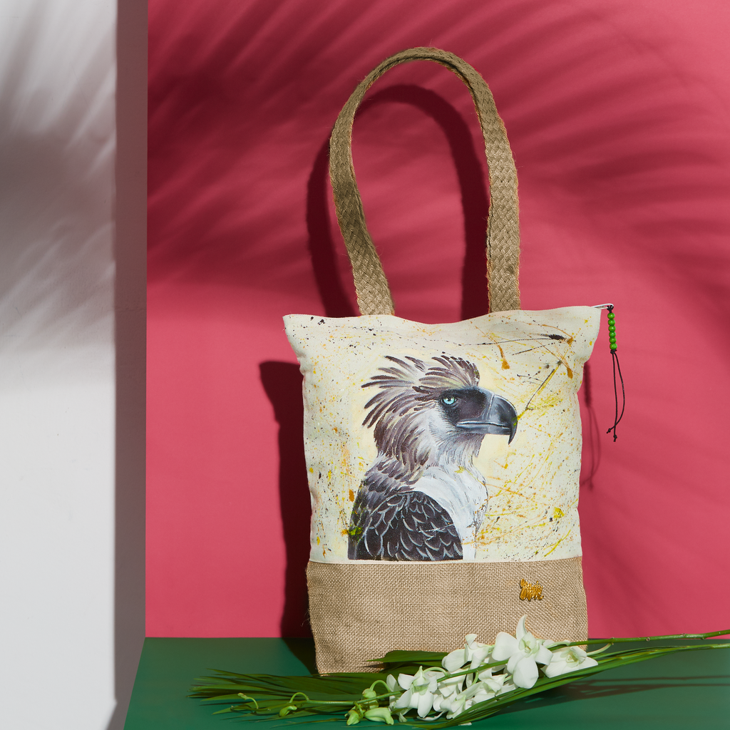 nature organic cotton eagle handpainted totes birds bags fauna summer agila philippine canvas handcrafted pouches