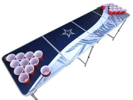pong entertainment wooden beer table