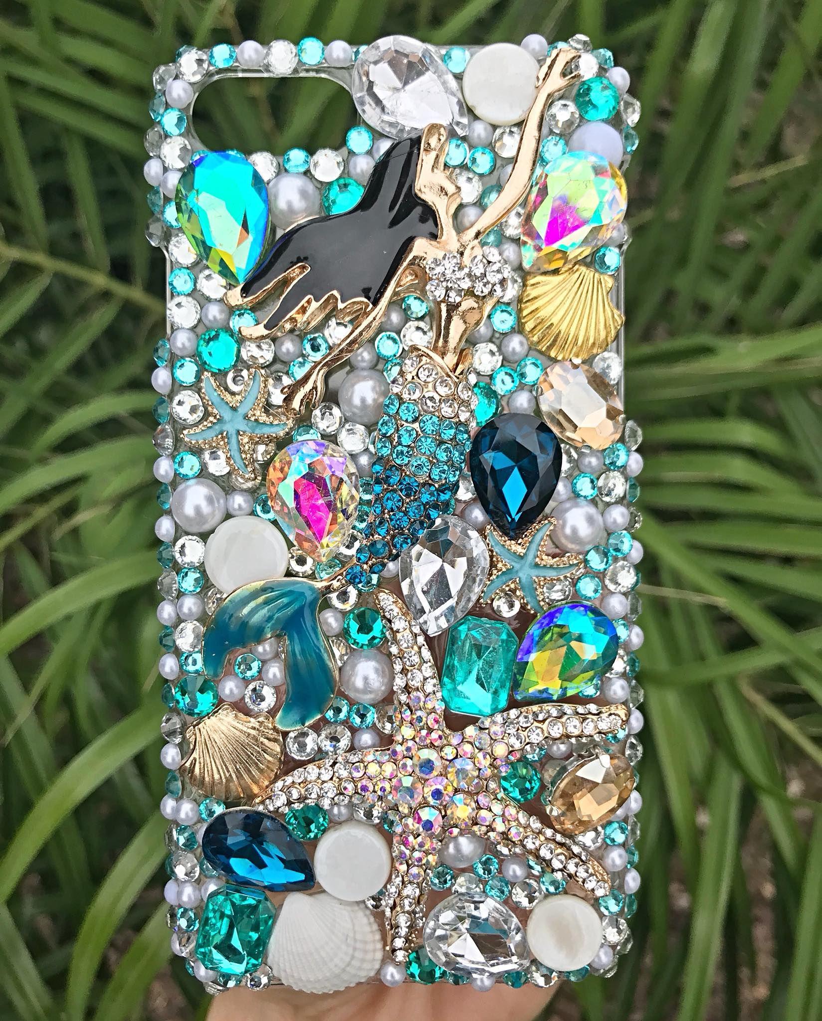 bling case beach phone iphone mermaid starfish