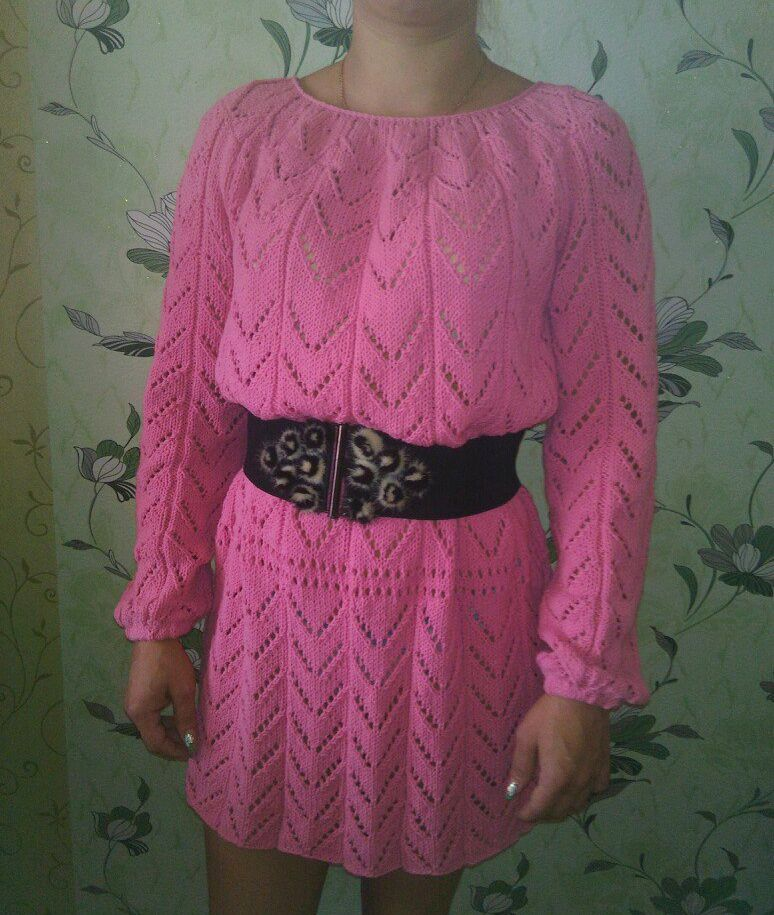 clothes tunic knitting pink