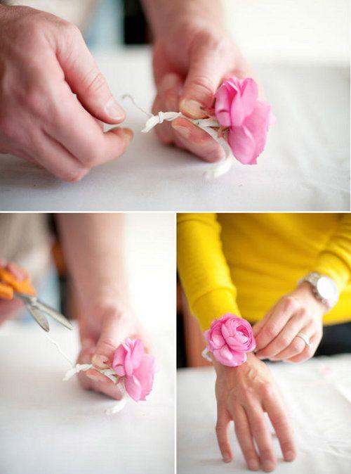 corsage wrist wedding make flower